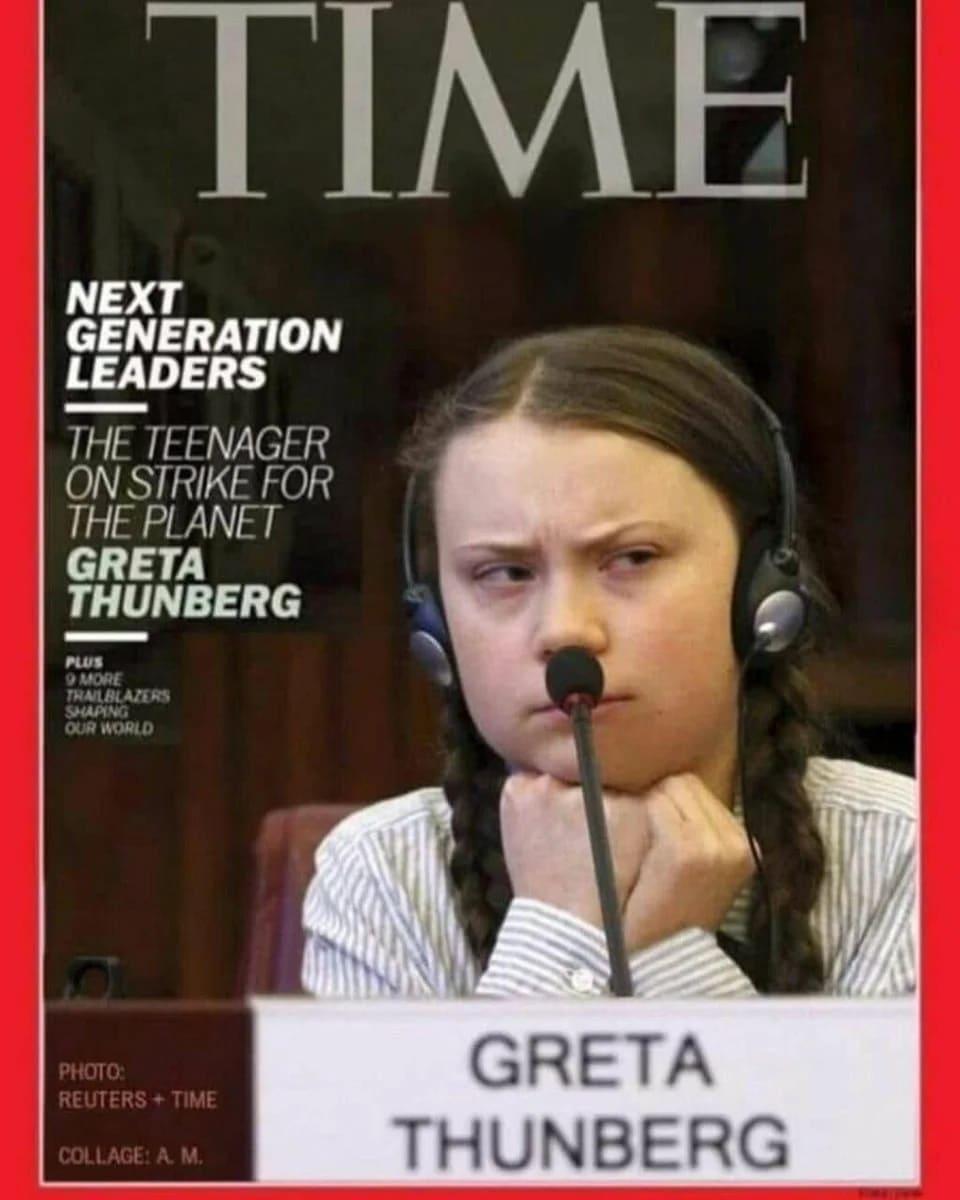 Грета Тунберг. Шведская активистка. 2020